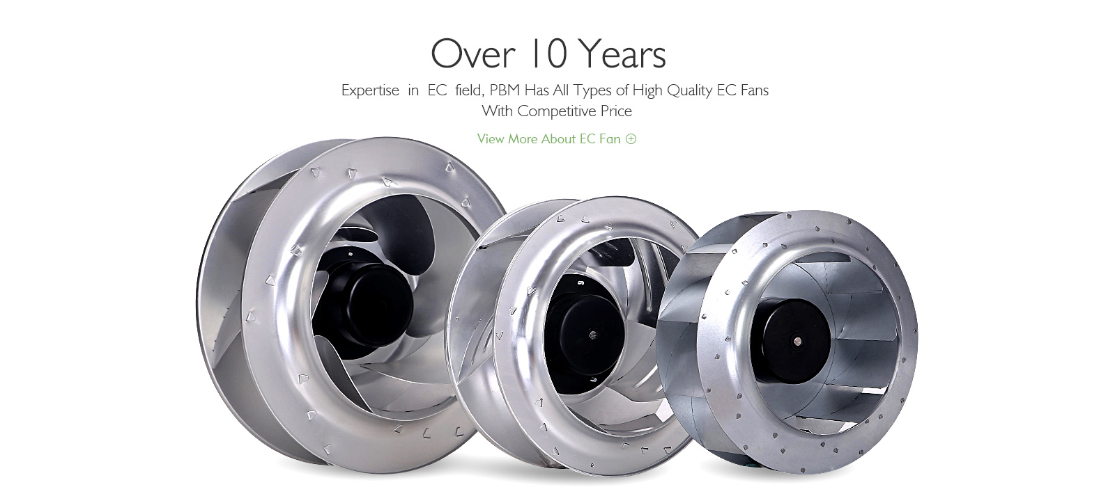 EC/DC Backward curved centrifugal fan