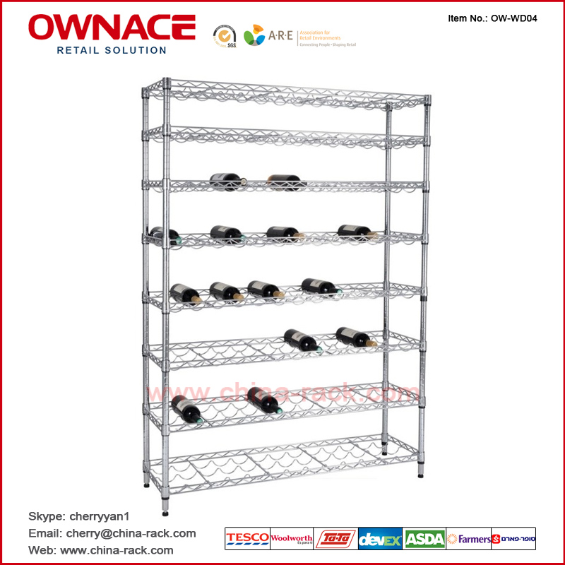 OW-WD04 Wine Rack, Red Wine Holder, Bottle Display Racks, Steel Wire ...