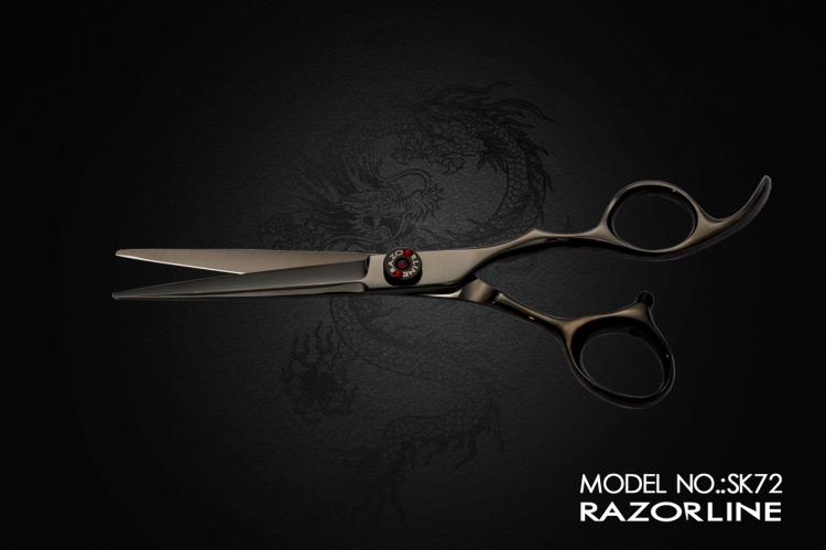 SK72 HAIR SCISSOR BLACK