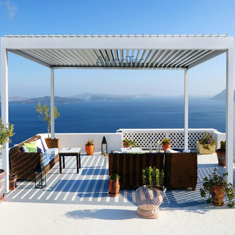 Louvered Pergola Roof Kits - Buy pergola cover, pergola canopy ...