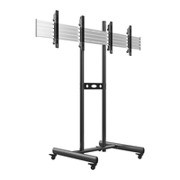 New Multi-screen 2X1 Movable Video TV Wall Cart Stand