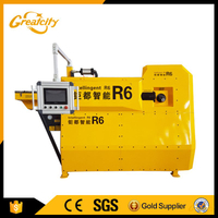 Multilingual CNC Rebar Bending Machine 5 To 10 MM