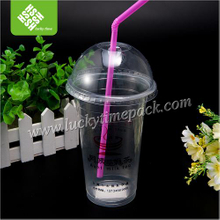 Disposable Plastic Tea/ Beer Tasting Cup with Lid and Straw
