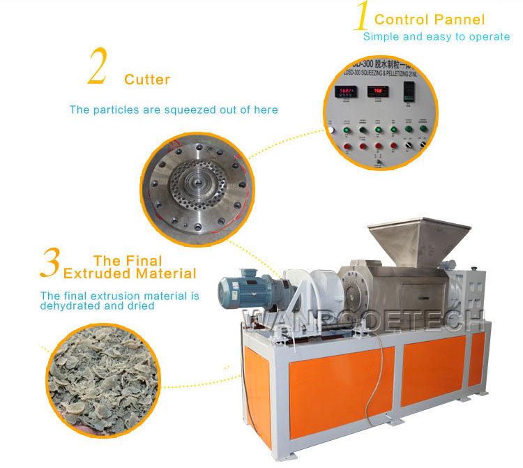 Woven Bag Squeezing Drying Machine,Plastic Film Pelletizer,Plastic Squeezing Pelletizer,Plastic Pelletizer Machine,Plastic Film Squeezing Pelletizing Machine