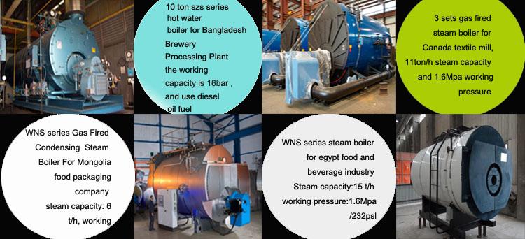 gas steam boiler for industry