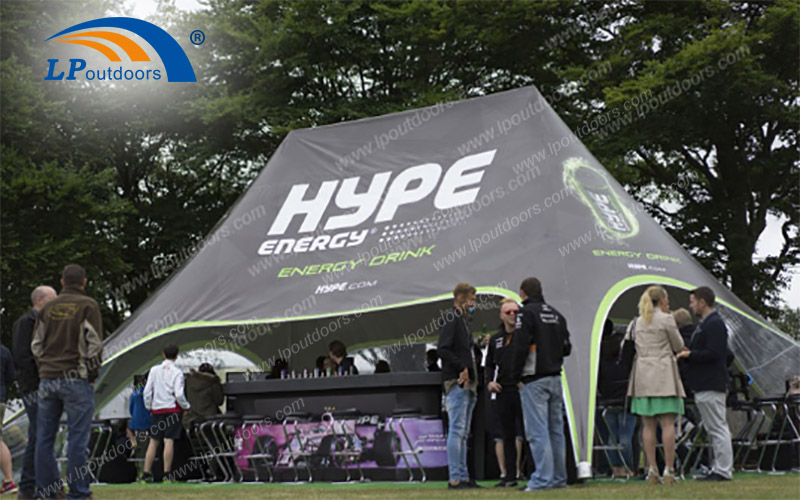 star tent for HYPE energy drink event