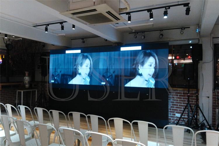 Hongkong reference room, 55inch lcd video wall, 2×4 b