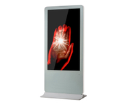 65'' Floor standing round corner whole white advertising media player