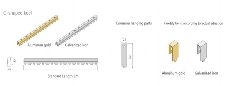 Aluminum strip ceiling parts1.jpg