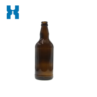 Standard 500ml Amber Beer Glass Bottle