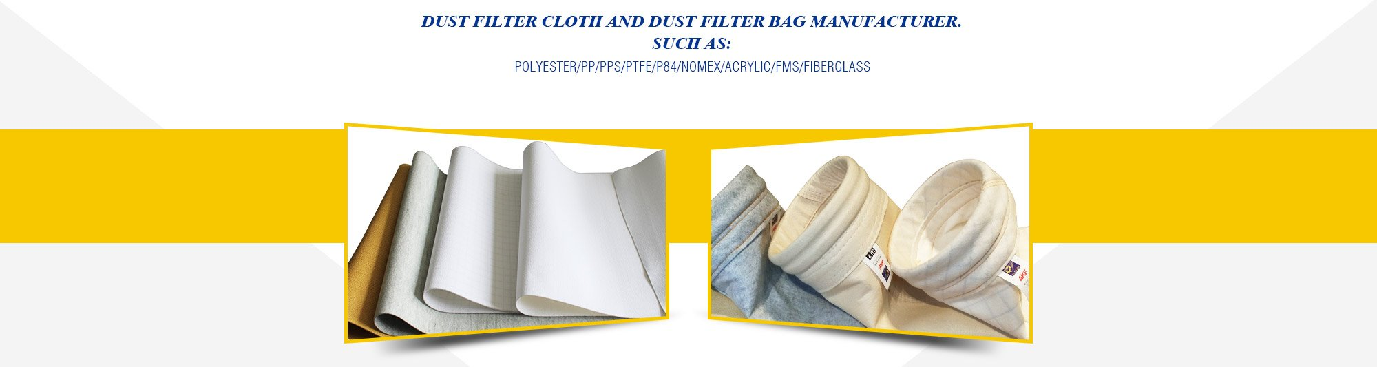 dust filter cloth and dust filter bag manufacturer.