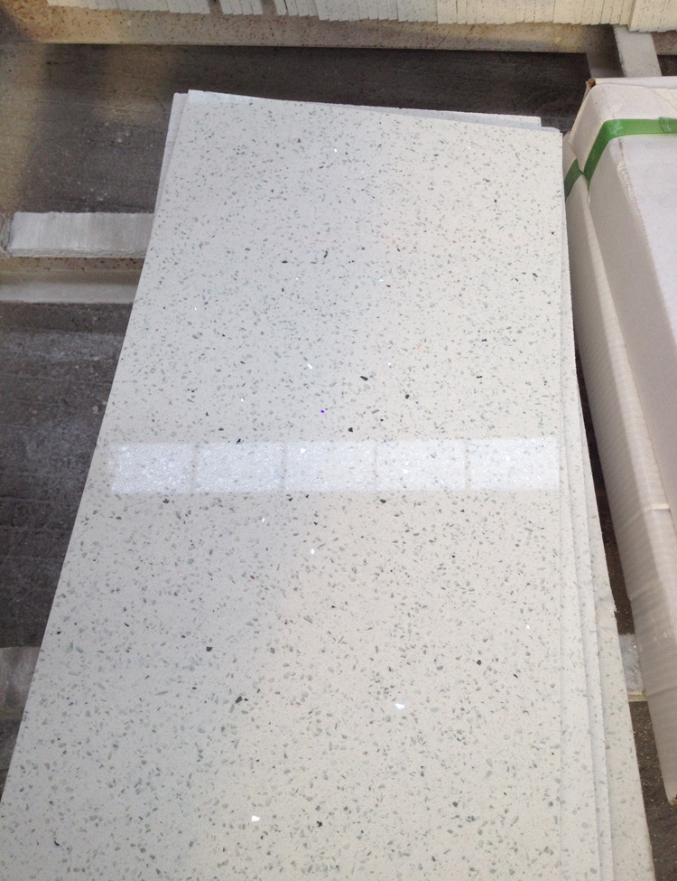 Artificial Sparkling White Quartz Stone Floor Tile Buy Xiamen Mrd