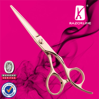 Razorline CK17G Rose Gold Professional Hair cutting Scissor with WCA and BSCI certificate