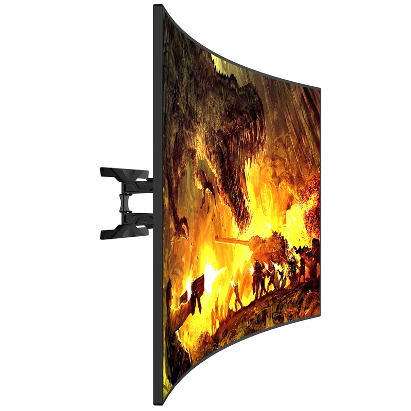 Full-motion Curved and Flat Panel TV Mount
