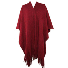 2018 latest design shawl plain dyed new product winter coat women red knitted pashmina shawl scarf