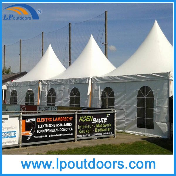 20X20' Outdoor High Peak White PVC Party Marquee Pagoda Gazebo Tent for Event