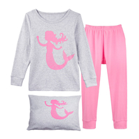 Little Girls Pajamas Mermaid Pjs Children Clothes Kids Sleepwear