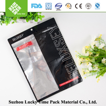 Clear Window OPP Laminated Plastic T- shirt Bag with Ziplock