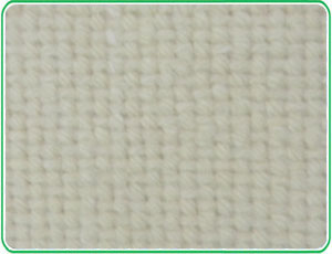 Fabric blending asbestos tile blanket
