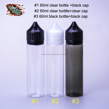 60ml clear plastic e liquid bottle shots