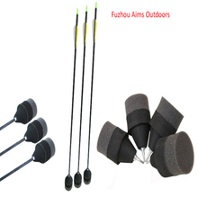"Aims 31""wholesale archery foam arrows tag arrows with fiberglass arrows OD7.8mm with foam soft field tips for CS game"