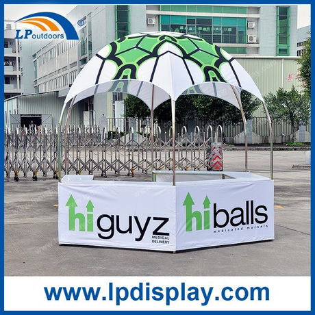 Customized logo Dia 10ft Hexagonal Display Booth Tent for Advertising Exhibition