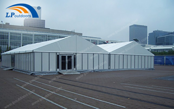 A Large Warehouse Tent For A logistics Company Park