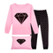 """Diamond"" Little Big Girls Pajamas Clothes Children Kids Sleepwear"