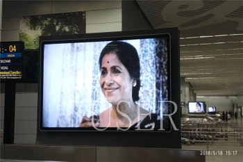 International airport in india, 65inch and 86inch LCD digital signage, 100 units