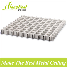 2018 Fashionable Aluminum Decorative Open Cell/grid Ceiling for Shopping Malls