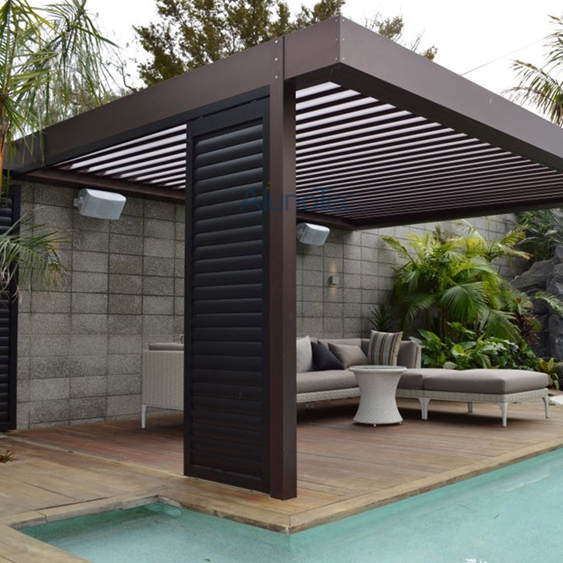 automatic aluminum louvered pergola kits buy aluminum. Black Bedroom Furniture Sets. Home Design Ideas