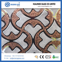 Decorative Tiles Ice flower backlit glass low price hot selling artistic glass pattern from Shahe factory