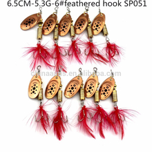 Aims SP060 metal sequin spinner spoon fishing lures with artificial wobbler bass japanese hook fishing baits