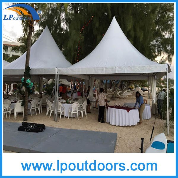 6X6m Hot Sale Outdoor Aluminum High Peak Pagoda Tent for Party