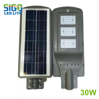 All in one solar security light 30W