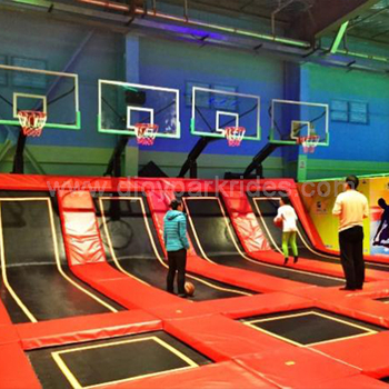 1000㎡ trampoline park completed for Australian customer