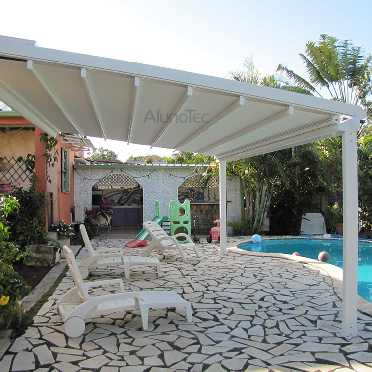 Retractable Awning PVC Pergola Roof Cover   Buy PVC Pergola, Retractable  Pergola, Retractable Awning Product On AlunoTec