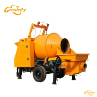 Portable diesel concrete mixer with pump factory