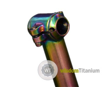 MTB titanium bicycle seatpost clamp locker Rainbow