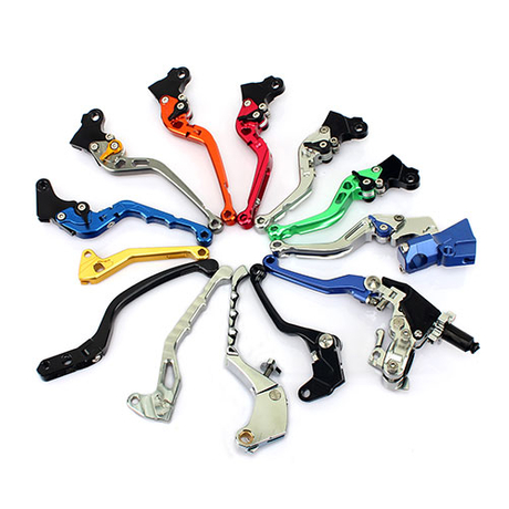 CNC Billet Aluminum Adjustable Motorcycle Brake Clutch Levers