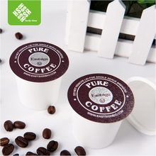 disposable compatible plastic k cup with sealing foil and filter