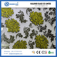 factory price ice flower decorative door backlit ceiling glass
