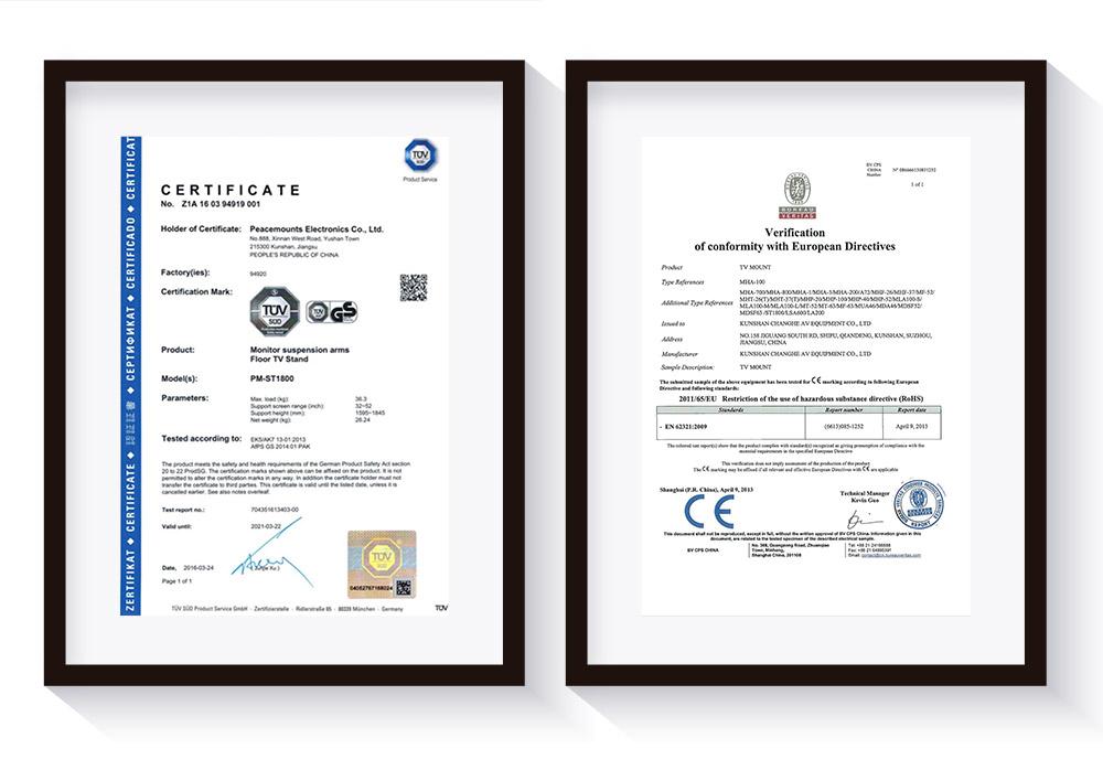Certificates Peacemounts