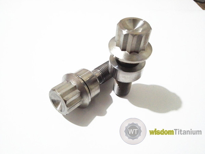 Porsche Titanium Lug Bolt Hot Forged 12 Point Head