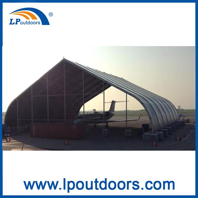 Aluminium Curve TFS Hangar Tent For Outdoors Storage