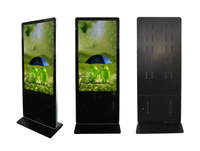 Vertical Display 55inch Floor Stand with Interactive Touch Screen