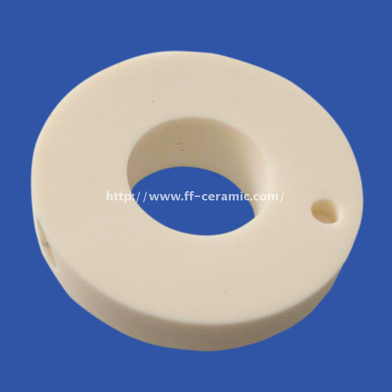 99 Alumina Ceramic Precision Parts Perforated Ring With Step