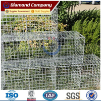 Metal Weld Mesh Gabion Stone Cage wire netting for flood security