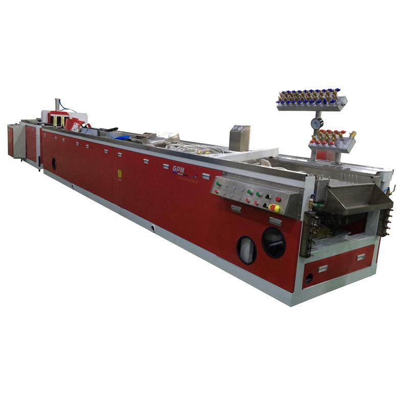 wood plastic composite processing line