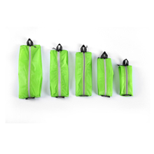 Waterproof Bag ,Green color,15D nylon double-sided silicone, 5 Different Size for Travel